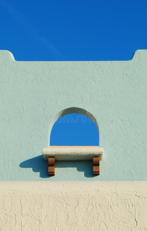 Adobe Style Window and Sky royalty free stock image