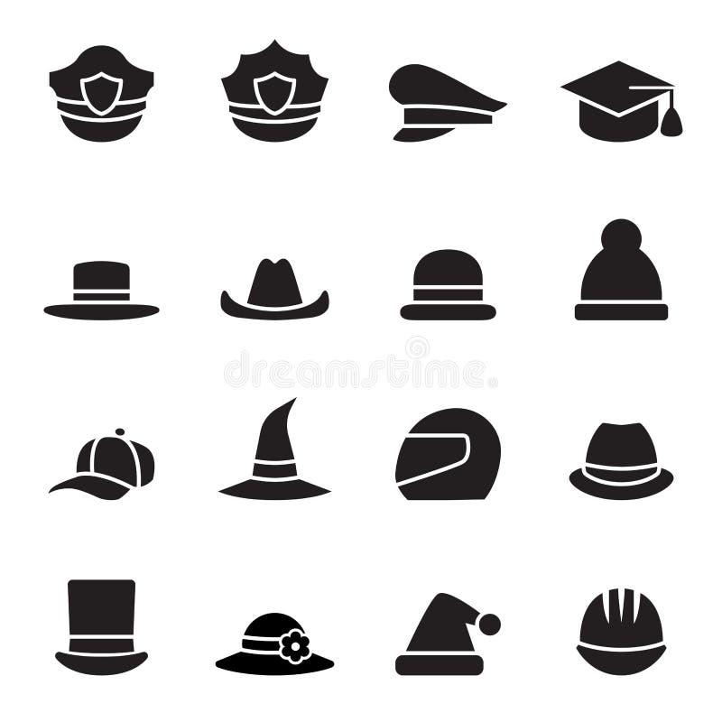 8 adobe tworzył cs eps formata kapeluszowego ikony ilustratora set royalty ilustracja