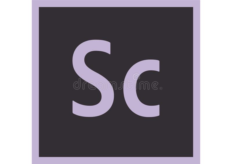 Adobe-Verkenner CC Logo stock illustratie