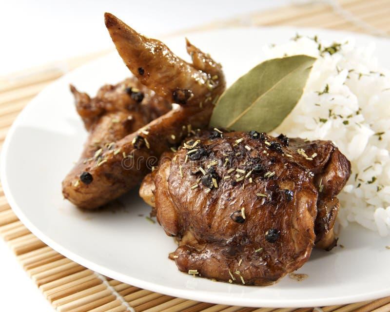 Adobo da galinha fotografia de stock royalty free