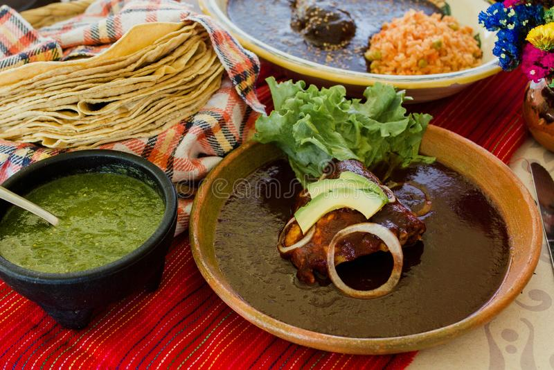 Adobo Mexicaanse Mol, kruidig voedsel in Mexico royalty-vrije stock foto's