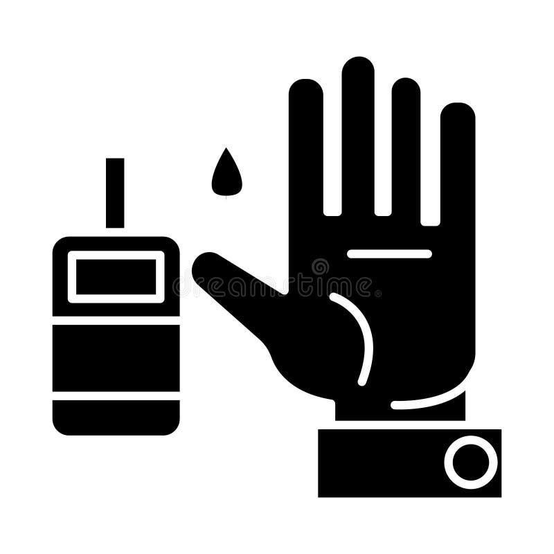 Adoce o nível de sangue - ícone do diabetes, ilustração do vetor, sinal preto no fundo isolado ilustração royalty free