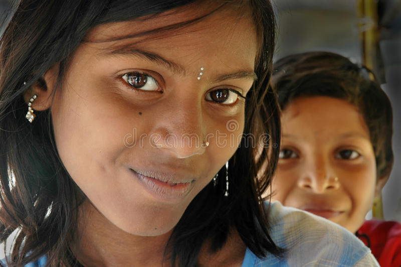 Adolescence girl in Indince girl in India. There are approximately 100 million girls between the ages of 10 and 19 years in India. More than half are married by royalty free stock photos