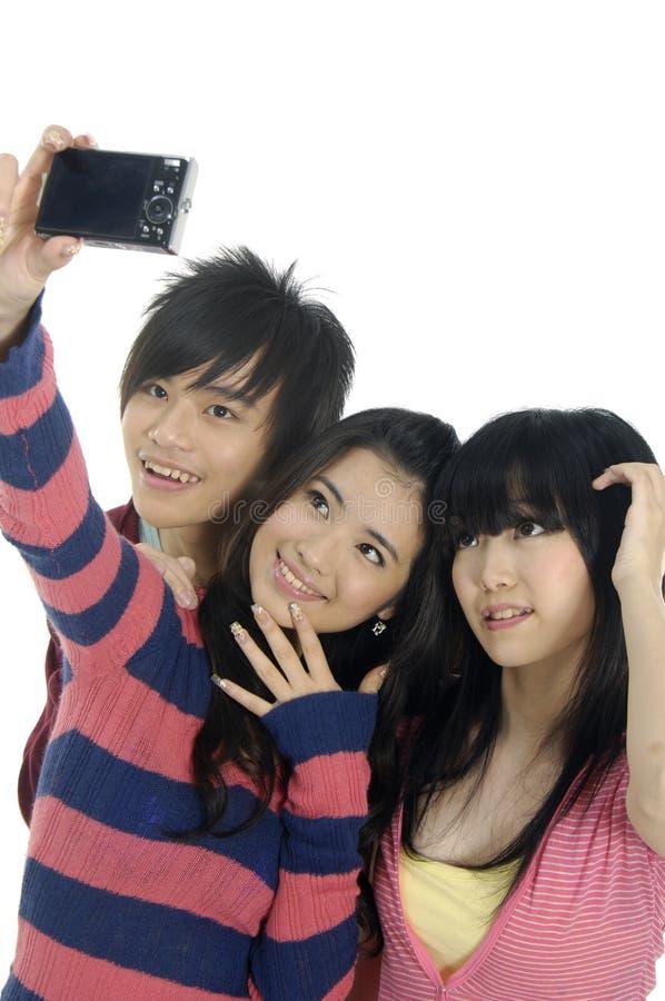 Adolescencias asiáticas foto de archivo