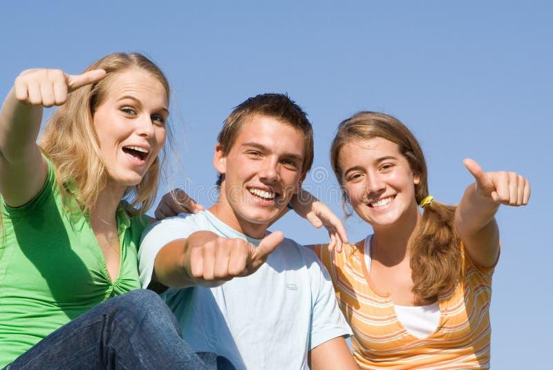 Adolescencias Felices Fotos de archivo libres de regalías