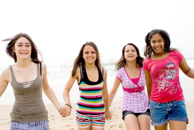 Adolescencias running fotos de archivo libres de regalías