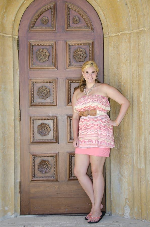 Adolescent assez blond image libre de droits