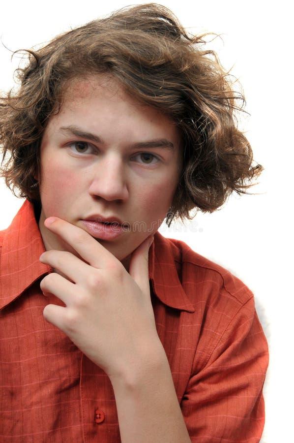 Adolescent dans la pensée profonde images libres de droits