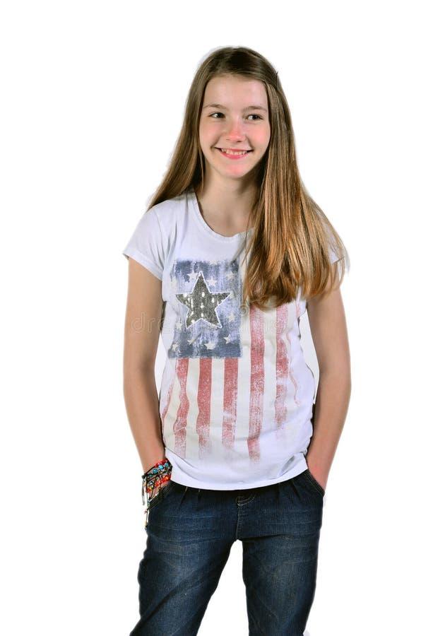 Adolescent de rire photographie stock libre de droits