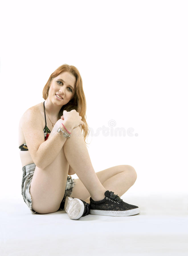 Download Adolescent féminin blanc photo stock. Image du juste - 45366844