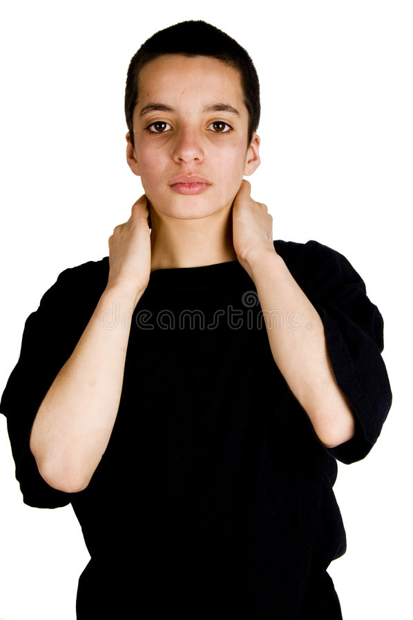 Adolescent fatigué image libre de droits