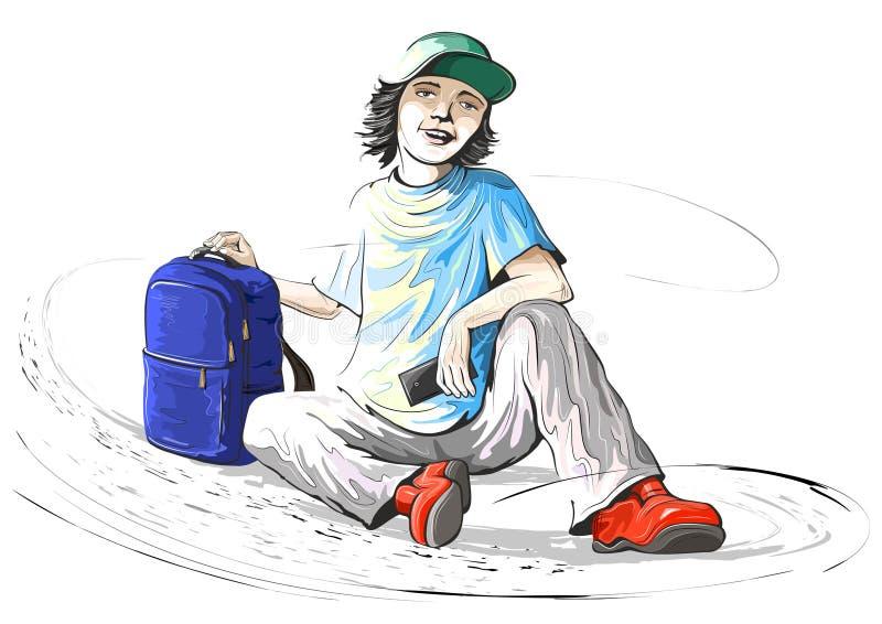Adolescent gai illustration de vecteur
