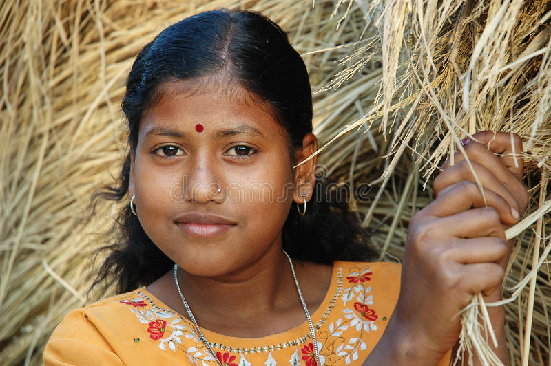 Adolescent Girl in India stock photography