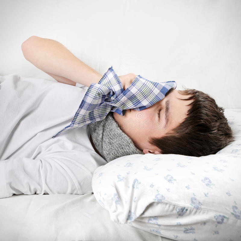 adolescent malade images stock