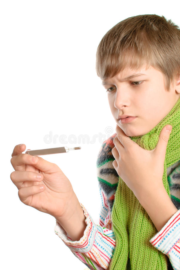 Adolescent temperature. royalty free stock images