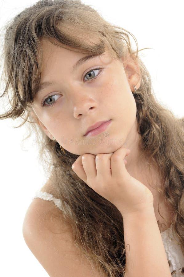 Download Adolescent Thinking Portrait Stock Image - Image: 19747343
