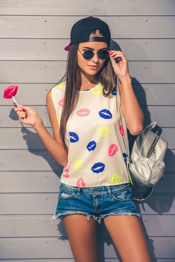 Adolescente alla moda fotografia stock