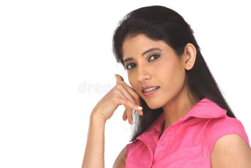 Adolescente appelle indien images stock