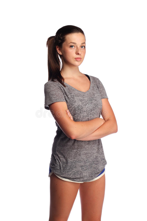 Adolescente apto do exercício foto de stock royalty free