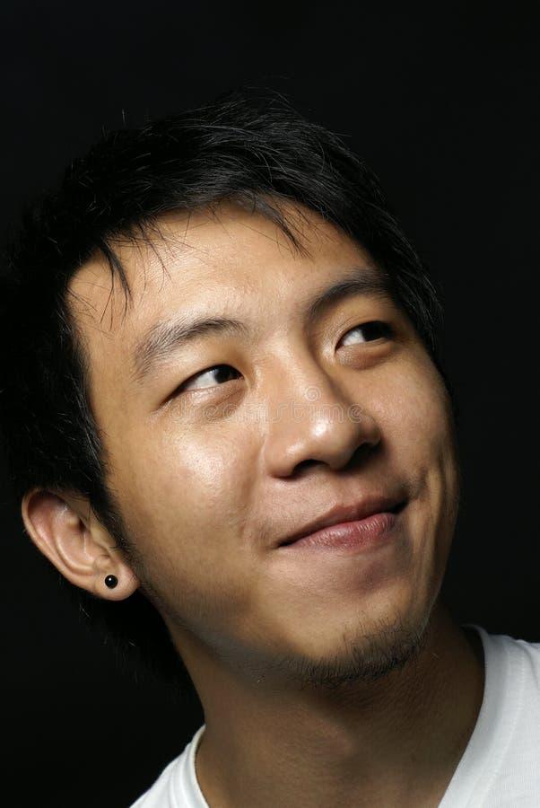 Adolescente asiático de sorriso feliz fotos de stock royalty free