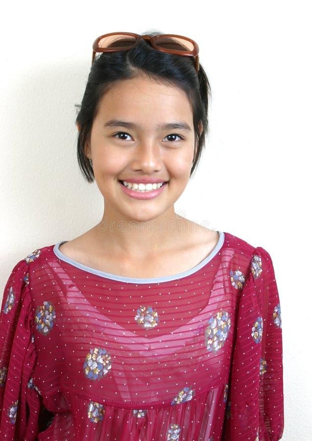 Adolescente asiático (série) imagens de stock