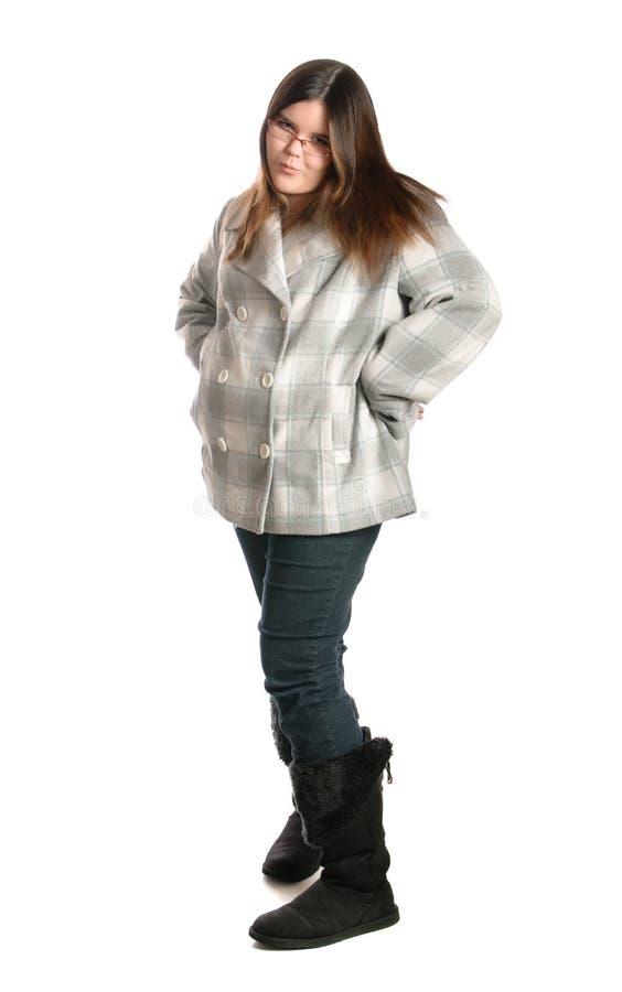 Adolescente avec l'assiette image libre de droits