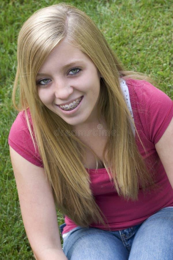 Adolescente biondo fotografia stock