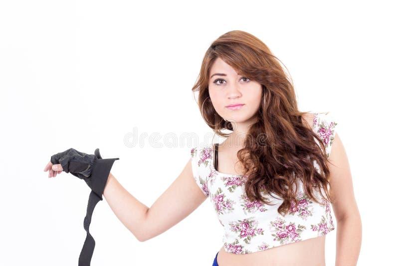 Adolescente bonito com atitude imagens de stock royalty free