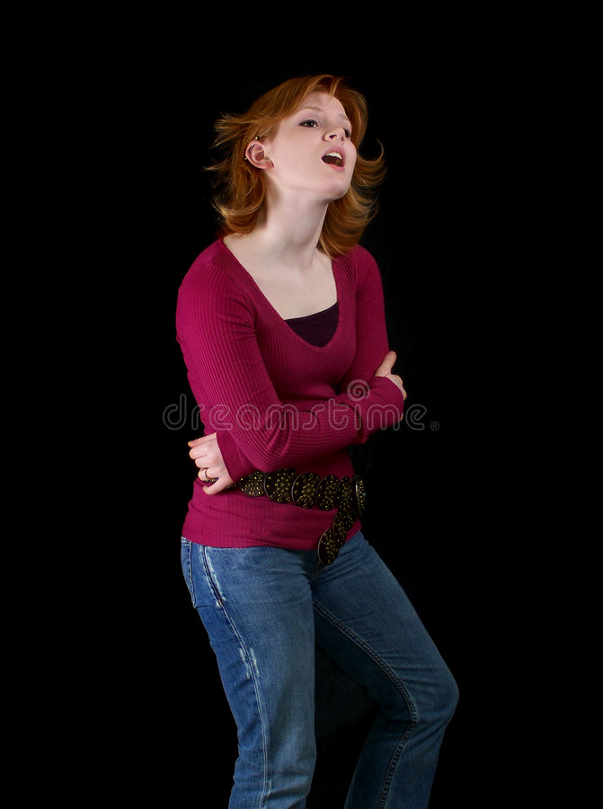 Download Adolescente Cantando Uma Canção Imagem de Stock - Imagem de modelos, brunette: 526123
