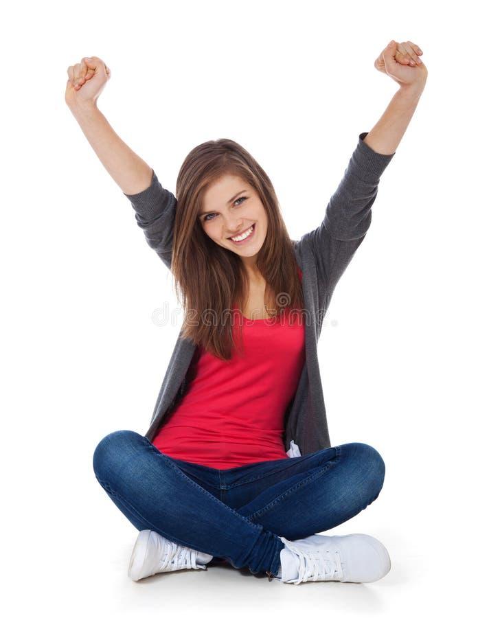 Adolescente Cheering imagens de stock