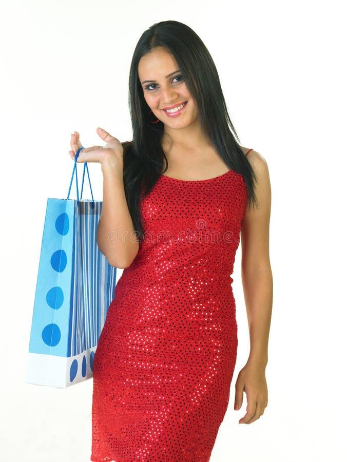 Adolescente com saco de compra foto de stock royalty free