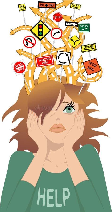 Adolescente con ADHD libre illustration