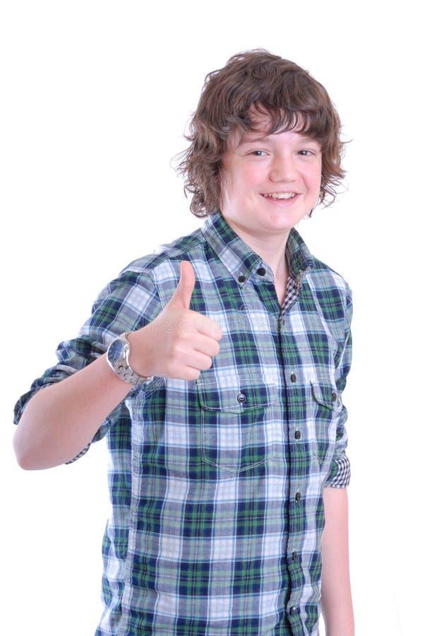 Adolescente con il pollice in su immagini stock