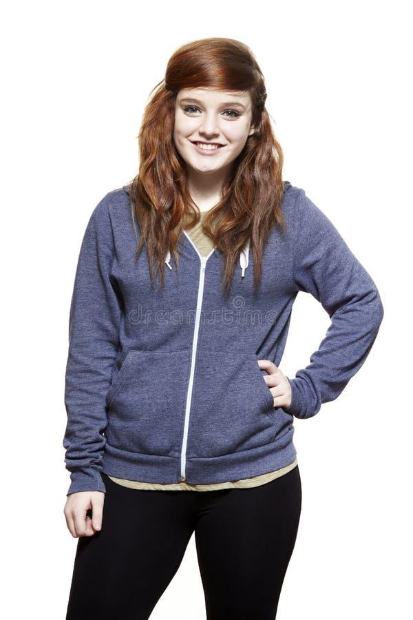 Sorridere con indifferenza vestito dell'adolescente fotografia stock libera da diritti