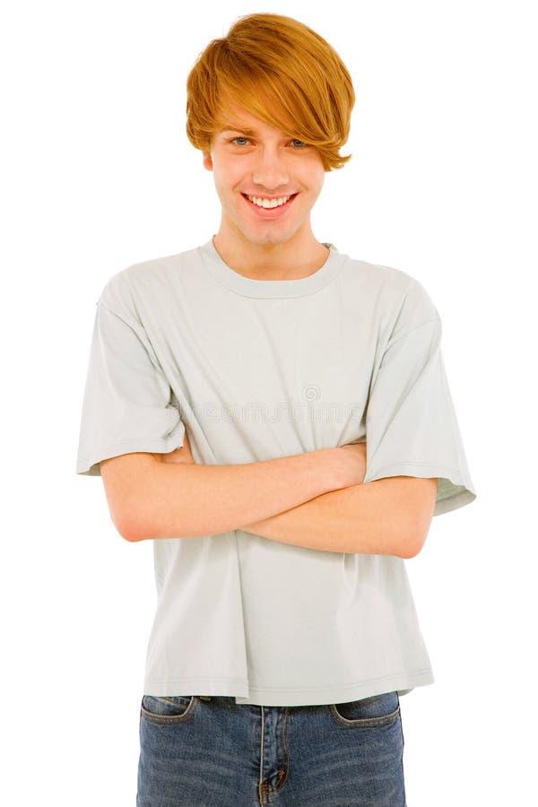 Adolescente con le braccia piegate fotografia stock