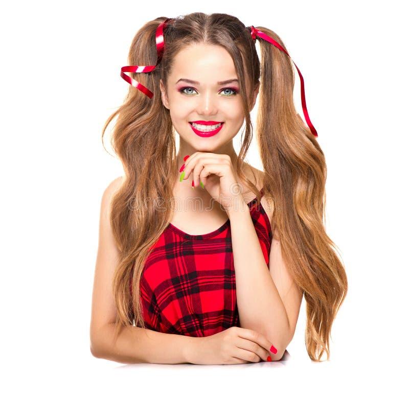 Adolescente da forma da beleza imagens de stock royalty free