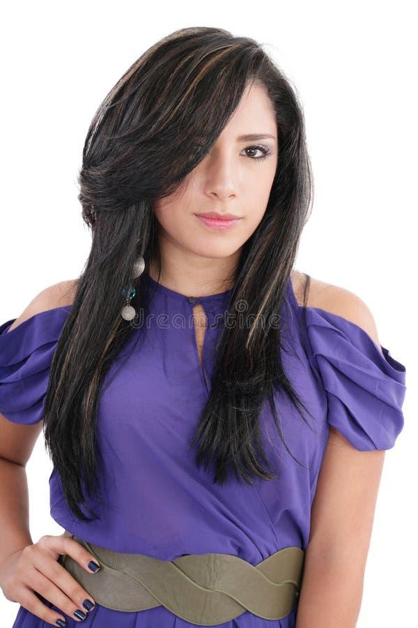 Adolescente da rapariga da forma imagem de stock
