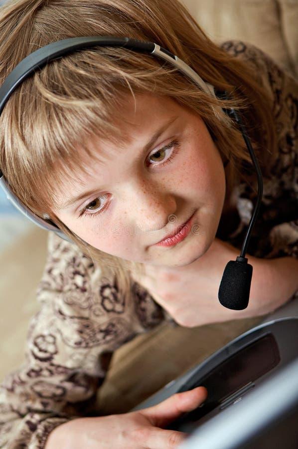 Adolescente de charla foto de archivo
