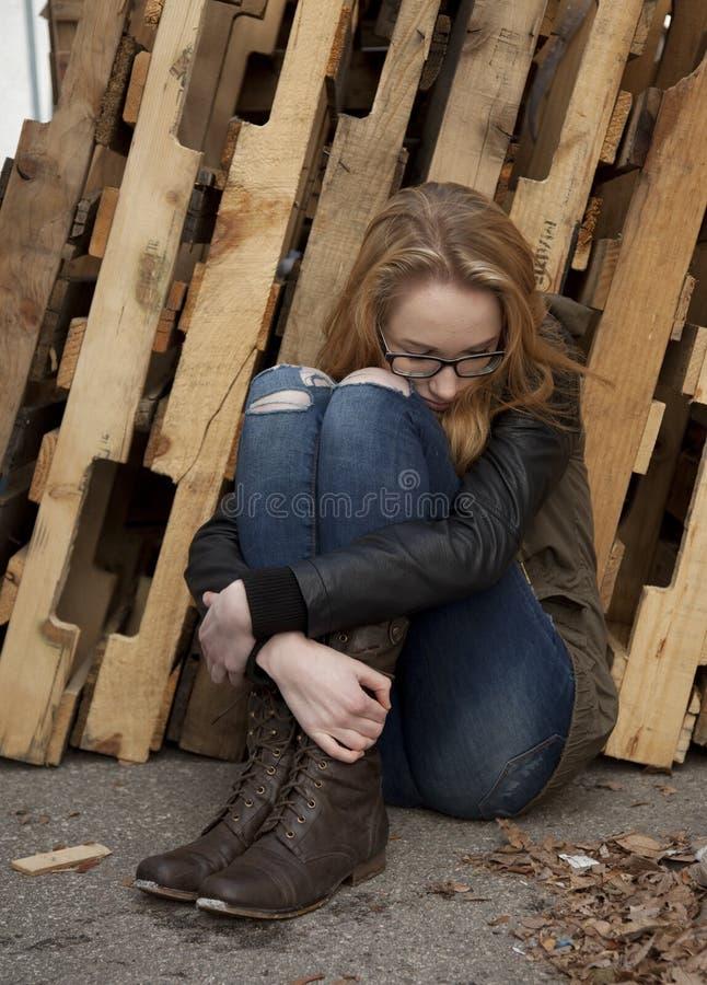 Adolescente de Drepressed image libre de droits