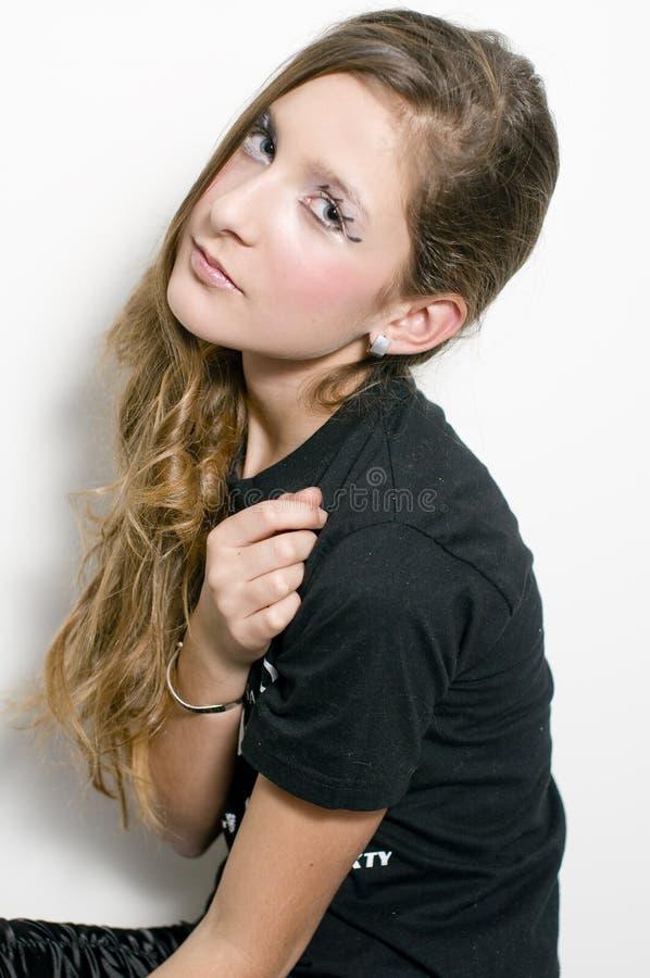 Adolescente de mode avec les jeux spéciaux d'oeil photos libres de droits