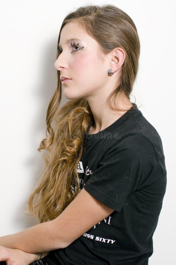 Adolescente de mode avec les jeux spéciaux d'oeil images libres de droits