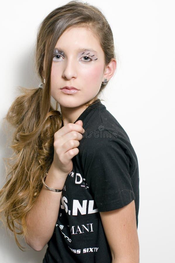 Adolescente de mode avec les jeux spéciaux d'oeil image libre de droits