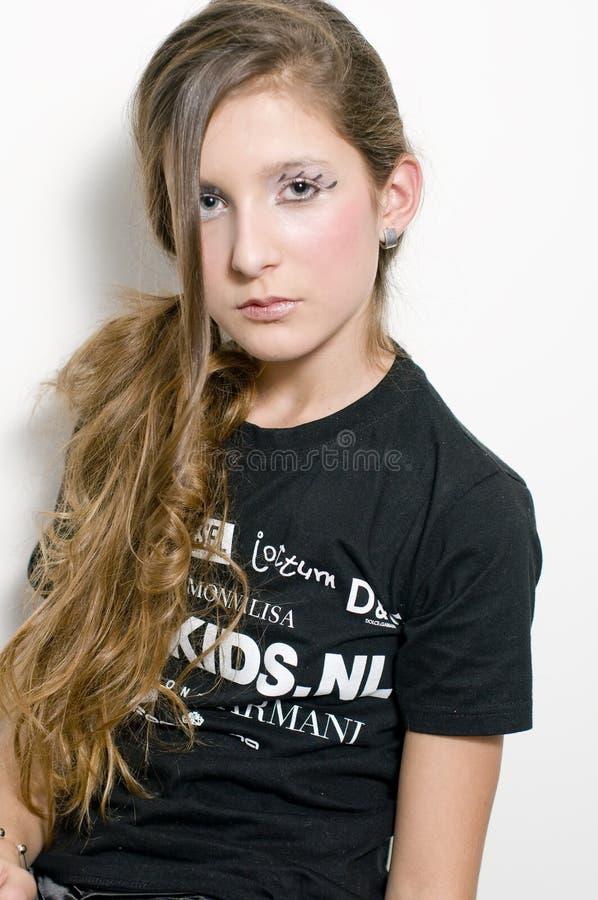 Adolescente de mode avec les jeux spéciaux d'oeil photo libre de droits