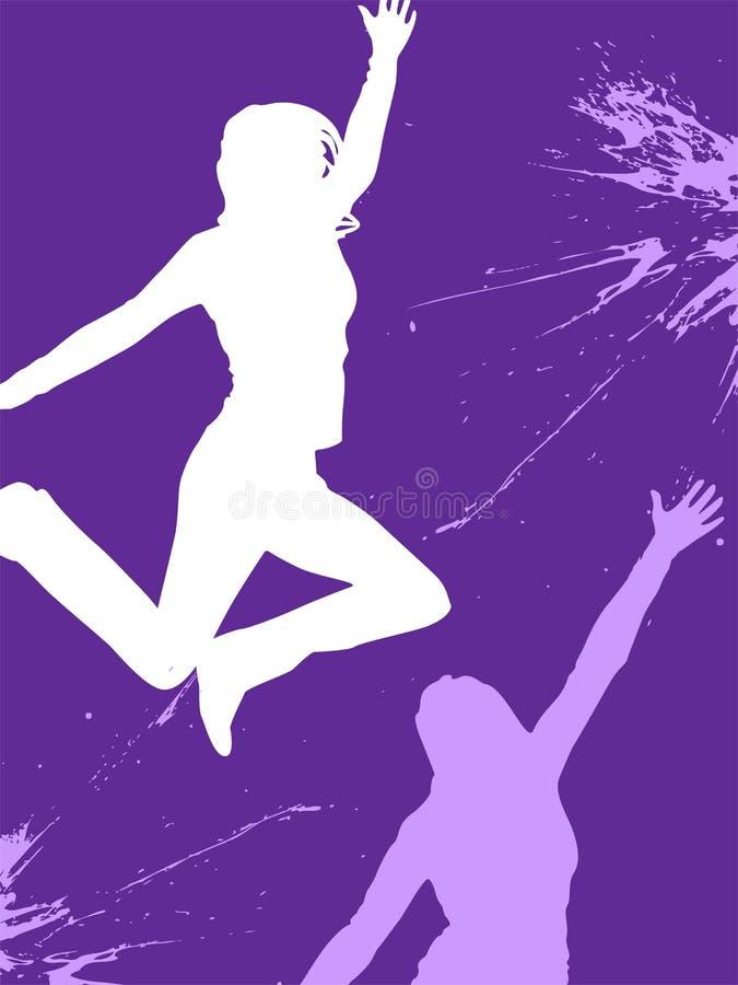 Adolescente de salto stock de ilustración