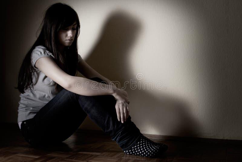 Adolescente deprimido imagens de stock