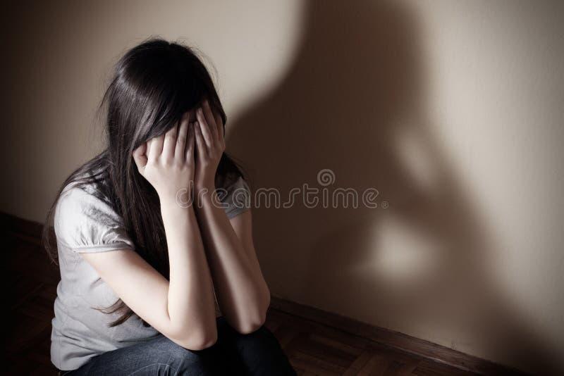 Adolescente deprimido fotografia de stock royalty free