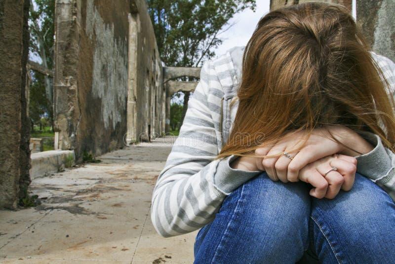 Adolescente deprimido. fotos de archivo