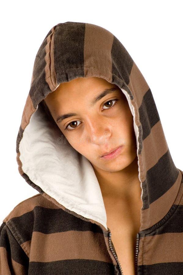 Adolescente di sguardo arrabbiato triste del pakistan immagine stock