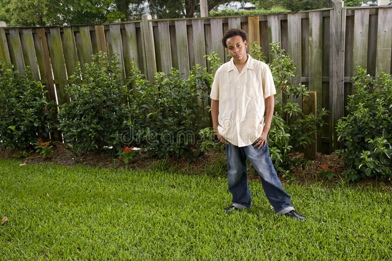 Adolescente do americano africano foto de stock