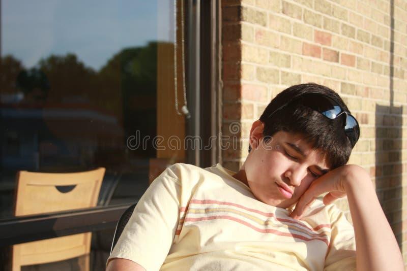 dormido adolescente
